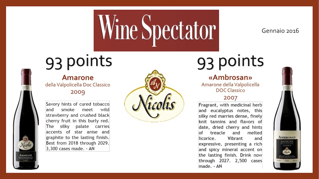 Italian wine Nicolis