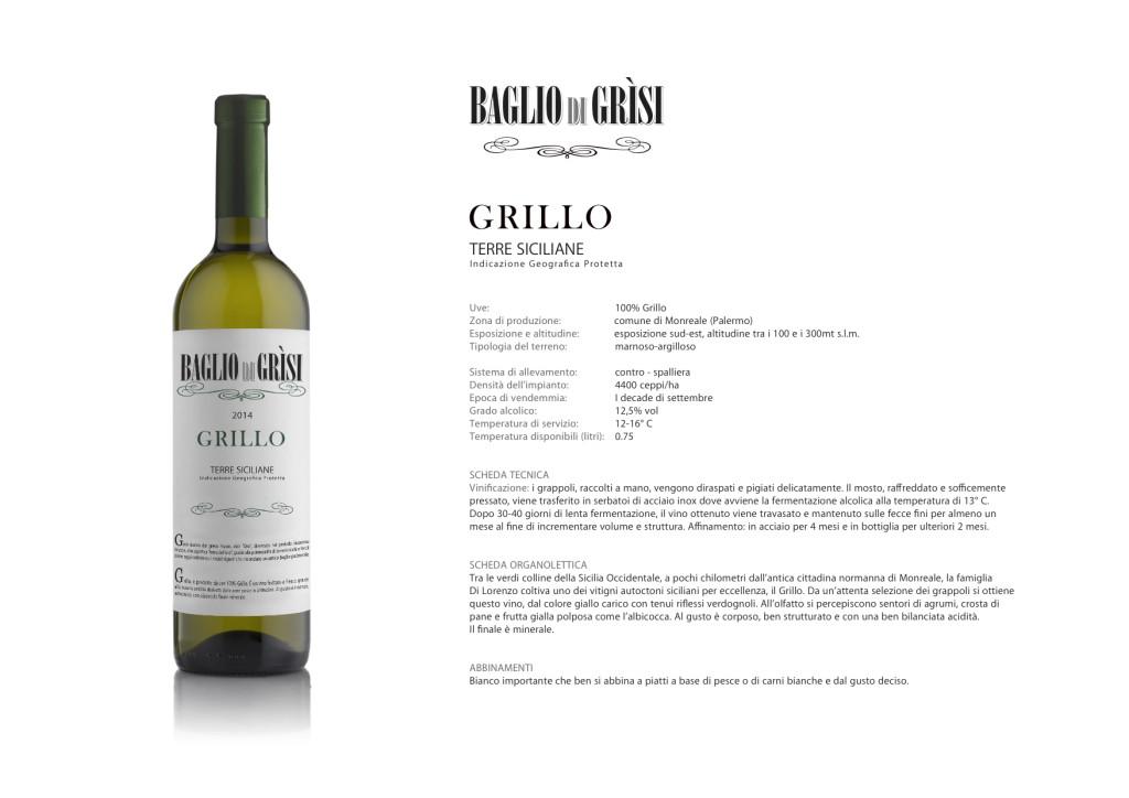 Vini italiani Baglio di Grisi Grillo